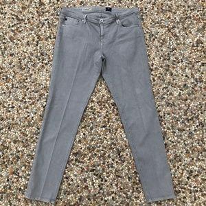 AG The Legging Ankle Super Skinny Jeans in Gray